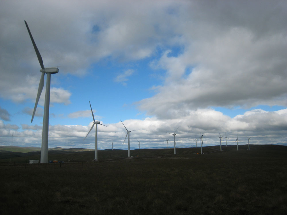 Green Knowes turbines to N